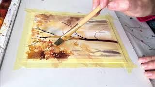 Свет сквозь кроны. Рисуем деревья акварелью.