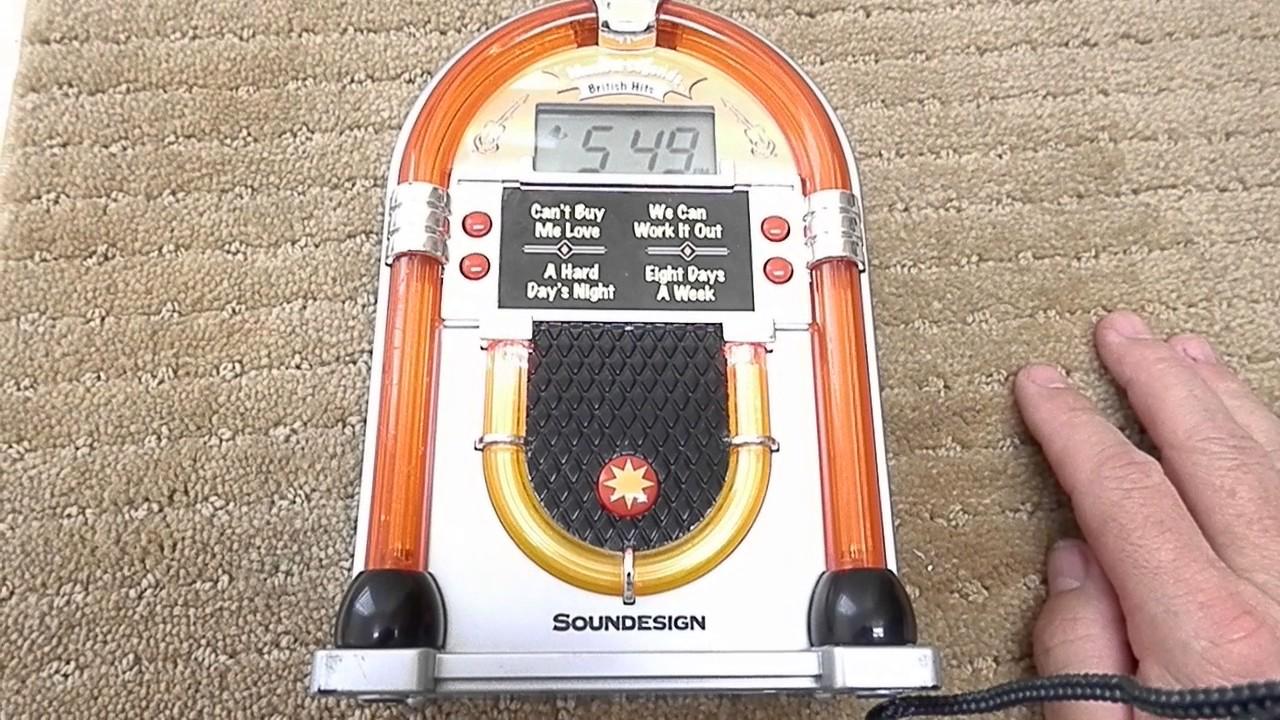Soundesign Jukebox Alarm Clock British