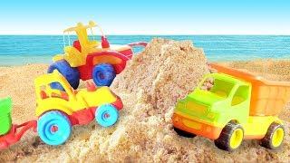 Машинки для самых маленьких. Песочница: развивающее видео. Маша Капуки, игры с машинками для малышей
