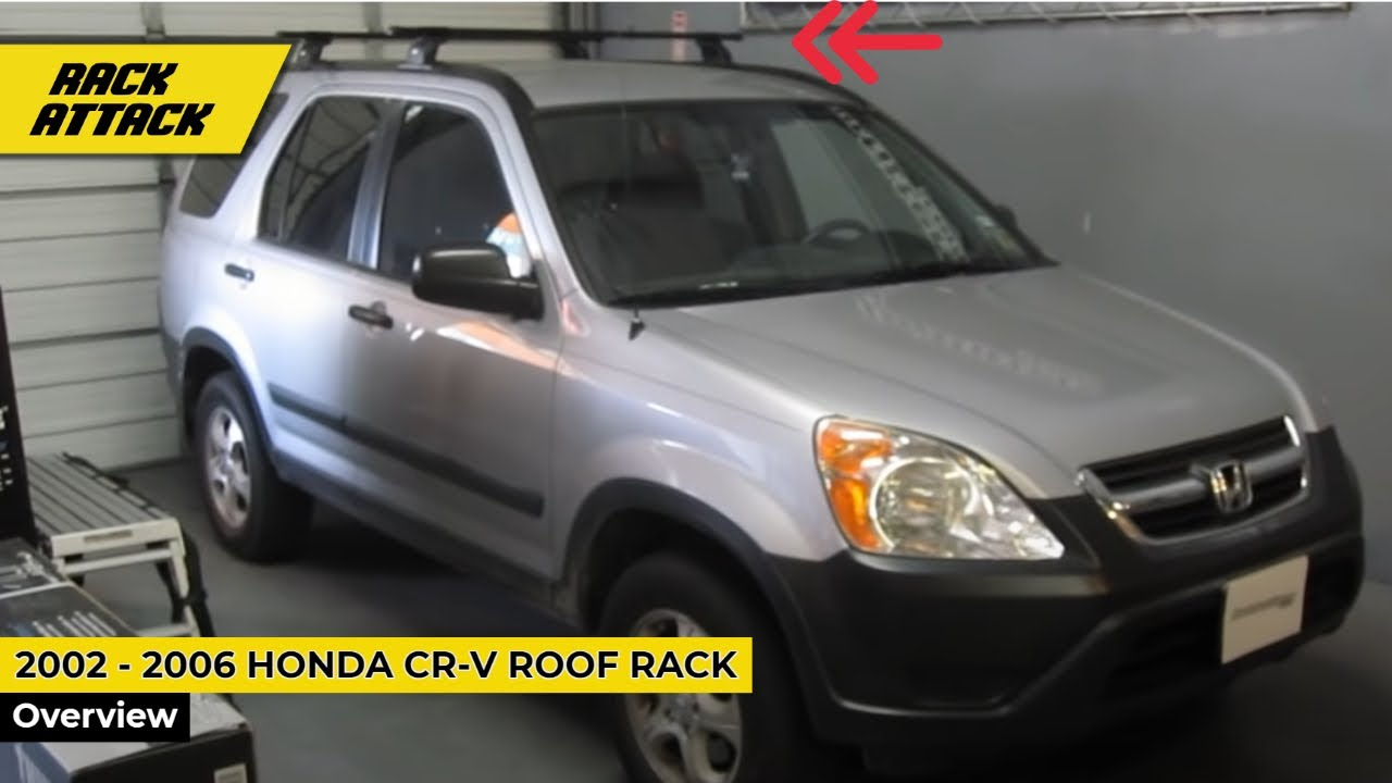 2002 2006 honda cr v with thule 460 podium base roof rack by rack outfitters