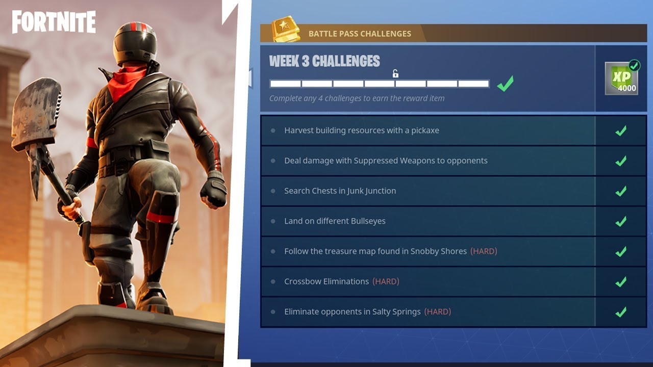 How To Complete All Season 3 Week 3 Battle Pass Challenges Fortnite