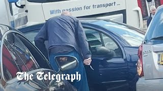 video: Driver pulls knife during petrol station row as motorists resort to filling up with the wrong fuel