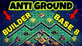 BEST BUILDER BASE 8 LAYOUT WITH REPLAY | BH8 ANTI GROUND BASE IN COC | CLASH OF CLANS