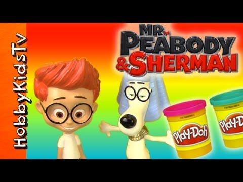 Open Mr Peabody and Sherman Surprise Play-Doh Toy Eggs on HobbyKidsTV