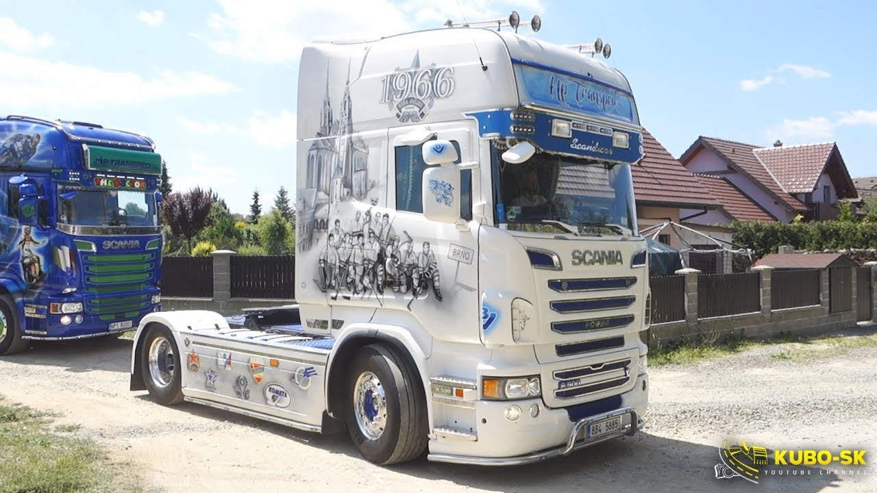 "Scania R500 V8 ""Kometa Brno"" - airbrush truck walkaround - YouTube"