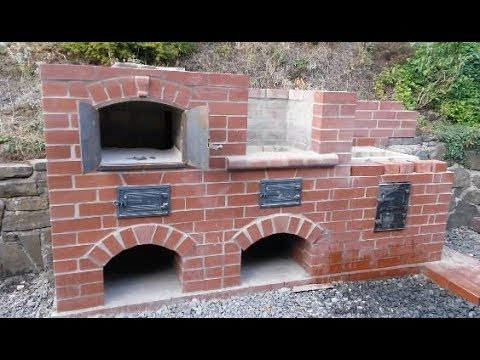 Brick BBQ stove and oven summer projekt pt. 4