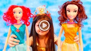 Принцессы Диснея Ариэль и Белль поругались между собой | Игры для девочек принцессы Дисней | Куклы