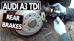 AUDI A3 TDI Rear Brakes (a beginner's guide)