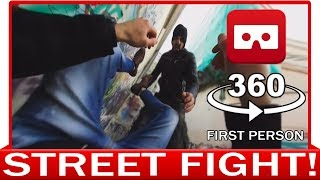 360° VR VIDEO - STREET FIGHTER in First Person View - POV Knockouts KO - VIRTUAL REALITY