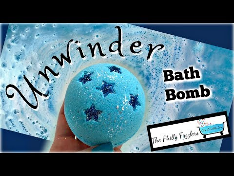 """THE PHILLY FYZZLERS – """"Unwinder"""" Bath Bomb Demo & Review in Jetted Tub !BUBBLES! Bath Art *TWILIGHT*"""