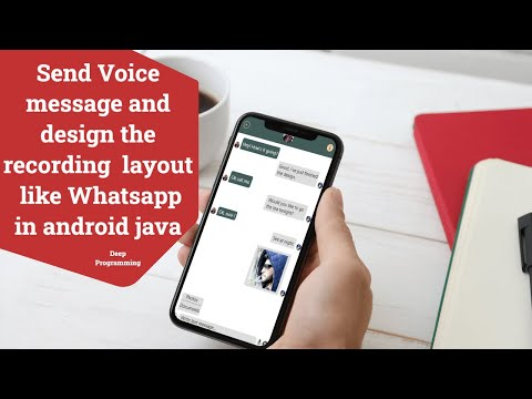 Send recording message and design recording button like whatsapp in android java(Chat App Part 20)
