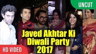 UNCUT Javed Akhtar Ki Diwali Party 2017 | Aamir Khan, Hrithik Roshan, Vidya Balan, Sri Devi