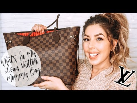 What's In My Mommy Bag   Louis Vuitton Neverfull   What's In My Bag 2019