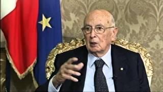 Collegamento del Presidente Napolitano con l