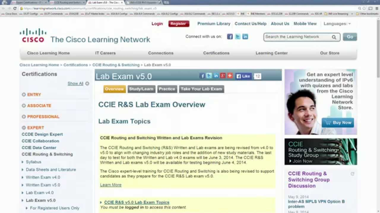 Free Cisco CCIE Routing and Switching Training Playlist