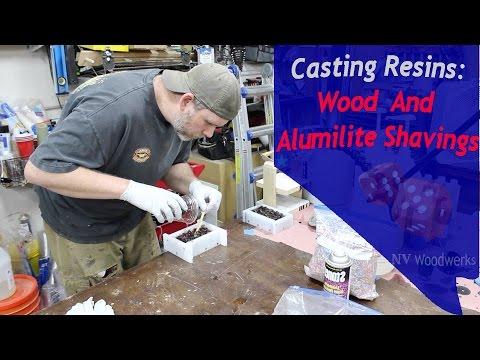 Casting Wood and Alumilite Shavings For Pen Blanks
