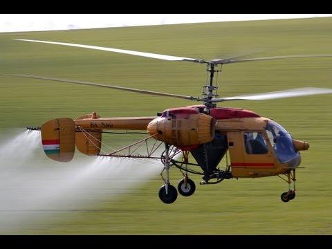 Kamov Ka-26 (HA-MNO) spraying flight near Szomor, Hungary