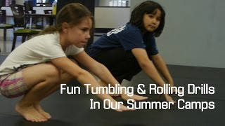 Martial Arts Summer Camps - Fun Tumbling Rolling Drills For Kids