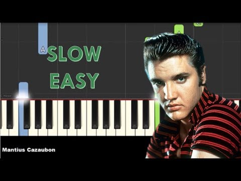 How To Play Can't Help Falling In Love By Elvis Presley On Piano - Slow Easy Piano Tutorial - Notes