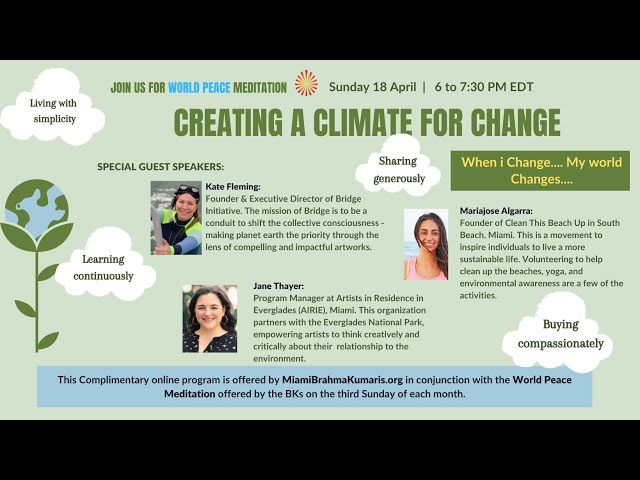 Creating A Climate For Change   World Peace Meditation