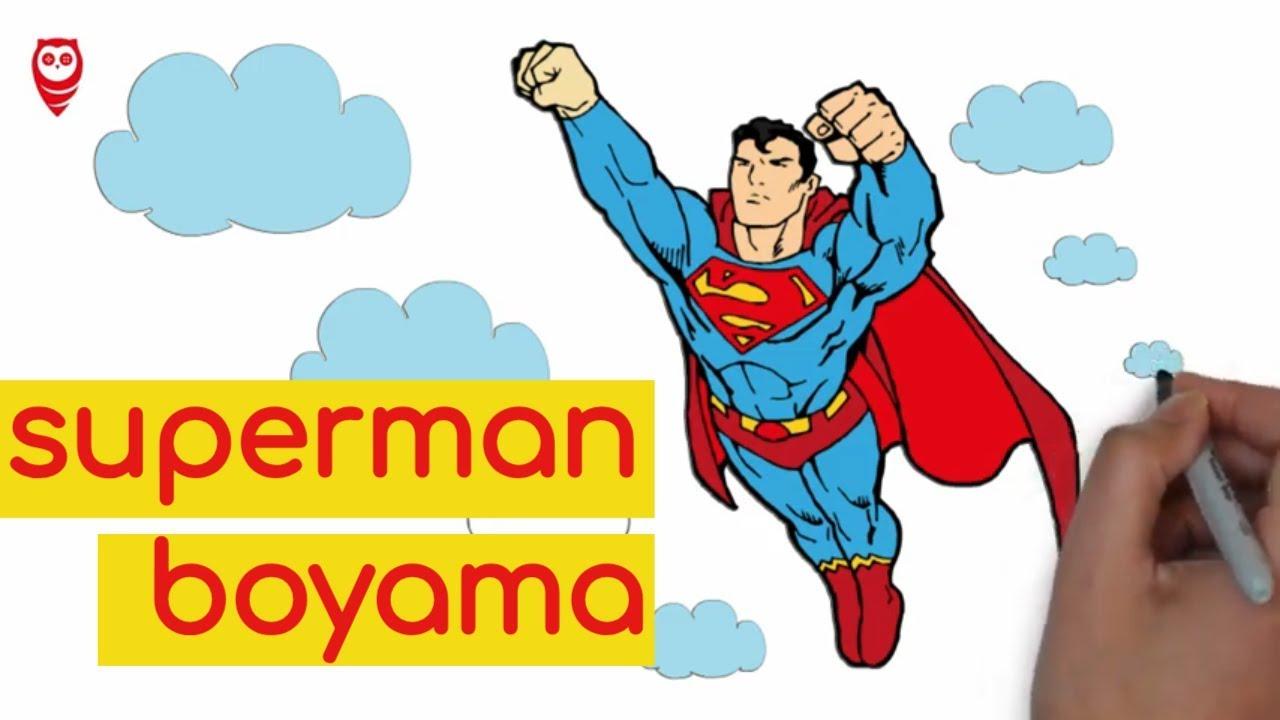 Superman Celik Yumruk Cizim Ve Boyama Sayfasi Cocuklar Icin Nasil