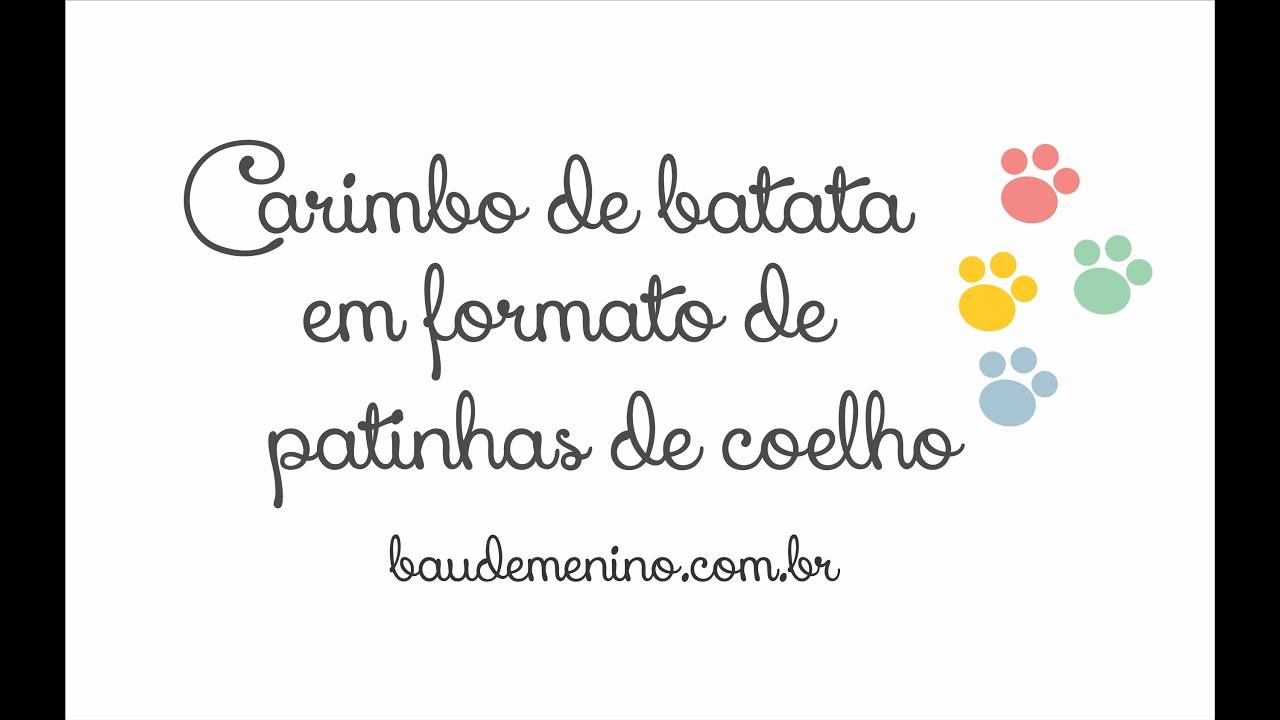 Carimbo De Batata Em Formato De Patinhas De Coelho Youtube