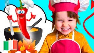 Cinque Bambini Facciamo cuocere i biscotti Canzoni per bambini