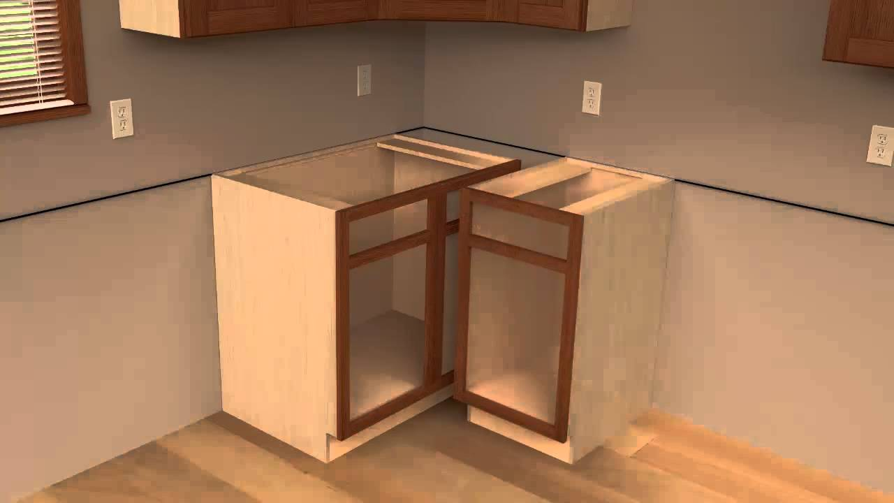 How To Install Lower Kitchen Cabinets 3 - cliqstudios kitchen cabinet installation guide chapter 3 - youtube