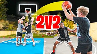 Me & MMG vs ZackTTG & Cash Nasty EXAUSTING 2v2 Basketball!