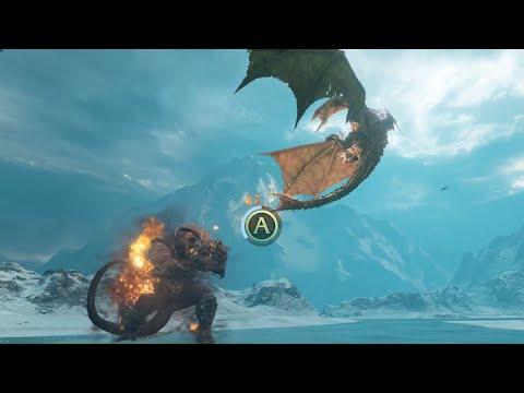 Shadow Of War - Balrog Vs Dragon Drake Boss Fight