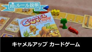 大人気ラクダレースゲーム「キャメルアップ」のカードゲーム版「キャメ...