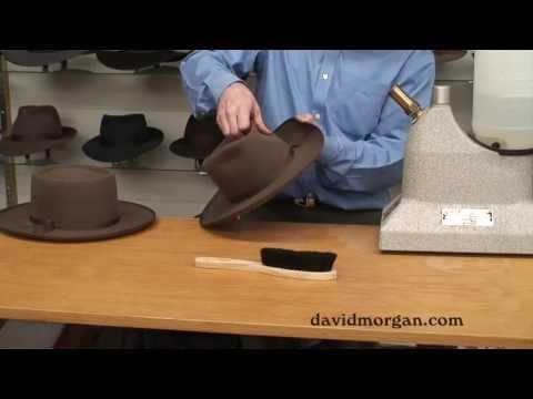 Open style cowboy hat
