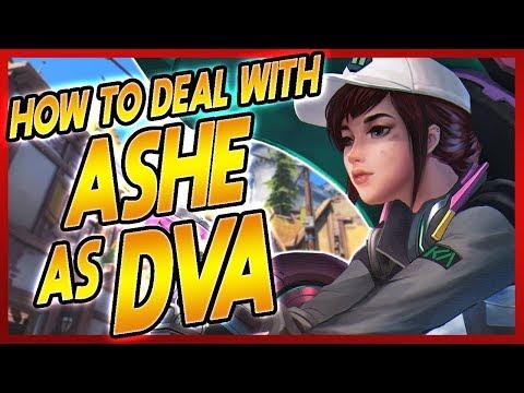 PRO DVA COACHING | How to deal with Ashe as D.va!! | GM Dva coach