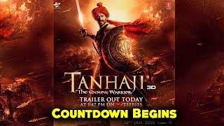 Tanhaji : Official Trailer Countdown Begins   Ajay Devgn   Saif   Kajol   tanhaji the unsung warrior