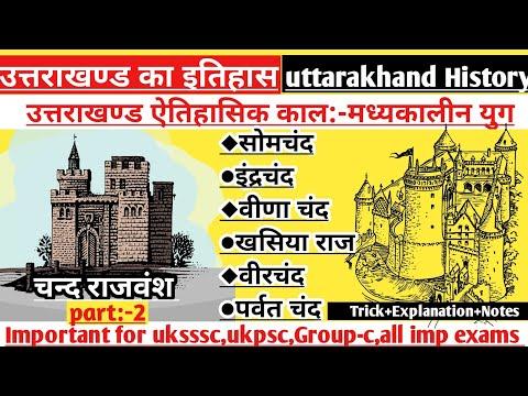 Uttarakhand History|उत्तराखण्ड इतिहास|चंद वंश Part-2|सोमचंद ,इन्द्र चंद,वीर चंद,खसिया राज,पर्वत चन्द