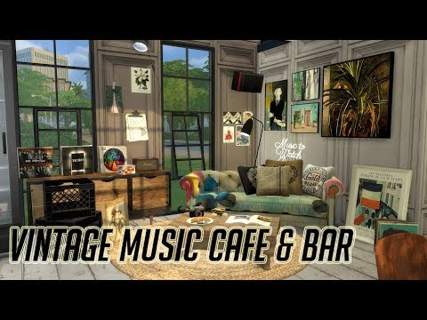 The Sims 4 심즈4 건축 Speed Build   Vintage Music Cafe & Bar   빈티지 음악 카페 & 바