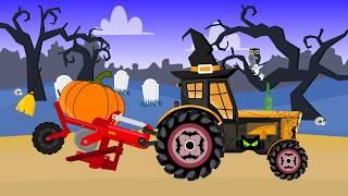 Tractor Halloween For Kids | Farm Work Pumpkin | Traktor Halloween Dla Dzieci | Bajka dla dzieci