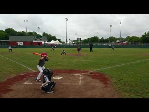 Over the fence center field Home run Hunter Davis