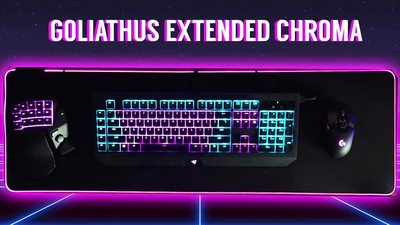 4f5794fced6 Razer Goliathus Extended Chroma Soft Mouse Mat (Review) - YouTube