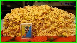 """ТОРТ авторский """"Ленивый"""". Пошаговый видео рецепт ТОРТА: бисквит, крем, фрукты. Рецепты тортов."""