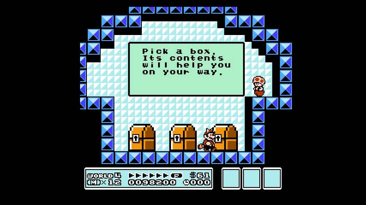Super Mario Bros  3: Pick a box