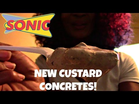 VLOG: TRYING SONICS NEW CUSTARD CONCRETES!
