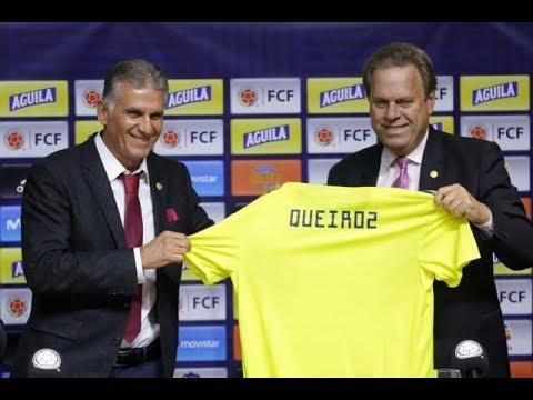 Presentacion Oficial de Carlos Queiroz como Tecnico de la Seleccion Colombia rumbo a Qatar 2022