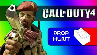 Call of Duty 4: Prop Hunt Funny Moments - Cinder Block Family, Seananners' Hack (COD4 Mod)