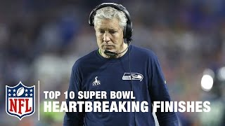 Top 10 Heartbreaking Super Bowl Finishes | NFL