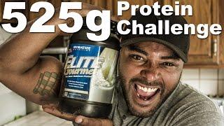 BlumGum does 525g Protein Shake Challenge