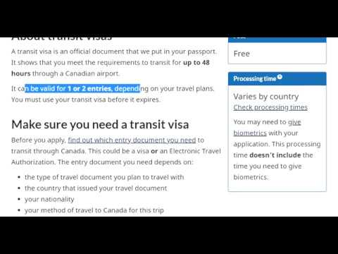 Transit Visa Canada Step by Step Full Information