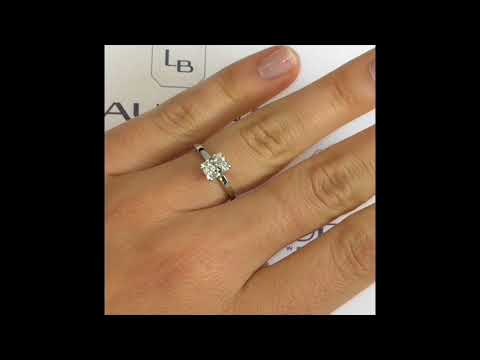 1.01 ct Radiant Cut Diamond Engagement Ring