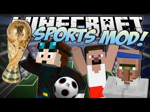 Minecraft | SPORTS MOD! (World Cup Football, Baseball & More!) | Mod Showcase