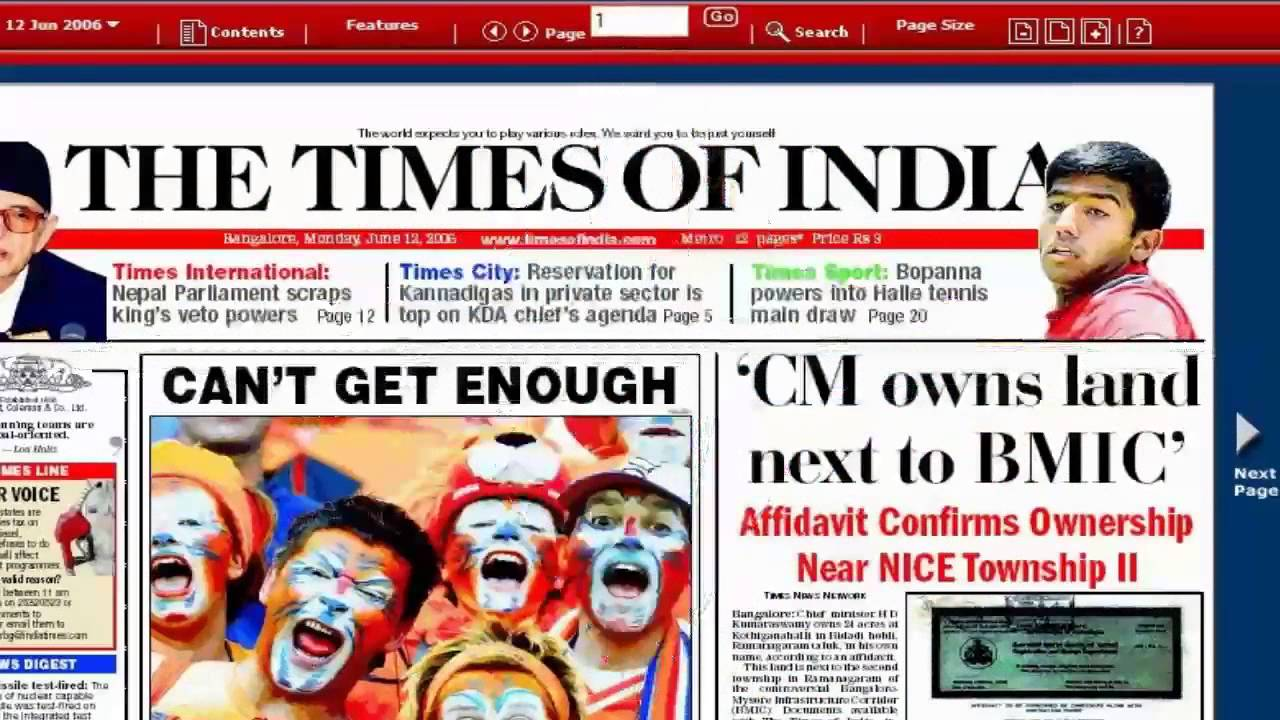 best online english news paper in india Which are the best english newspapers in india the first fully indian-owned english newspaper was the bombay times and journal of commerce, launched on november 3, 1838, by rao bahadur narayan dinanath velkar, who published it thrice weekly.